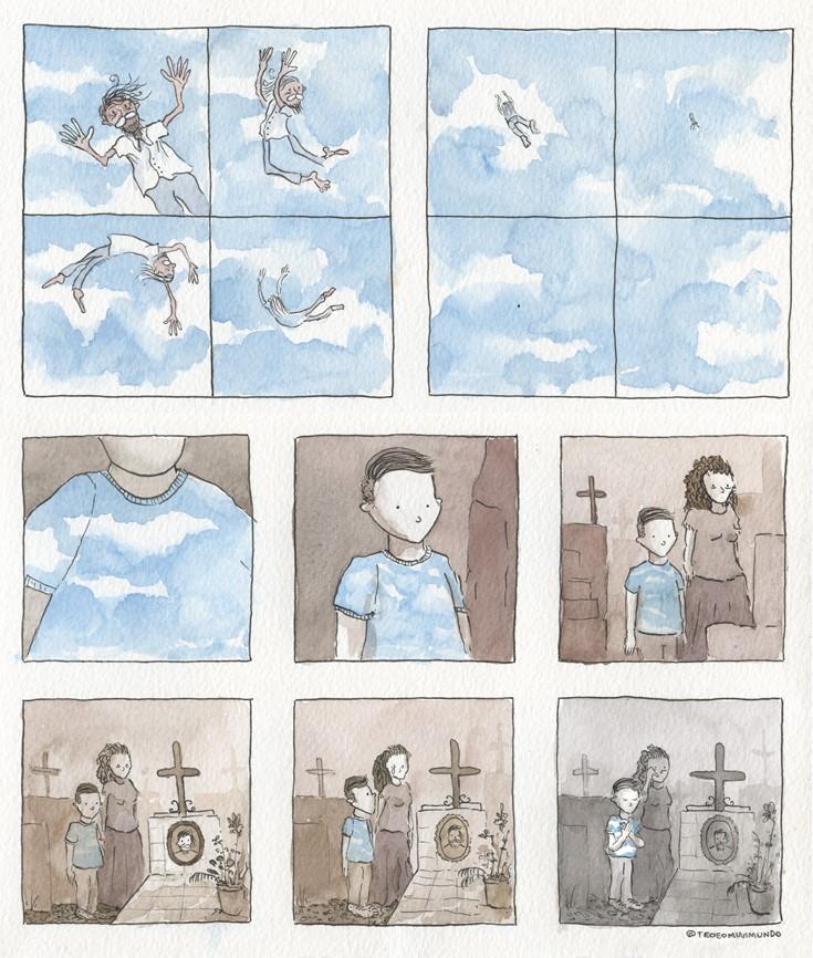 Tirinha - Céu: Uma reflexão sobre a morte